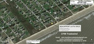 2798 Tradewind Ln., BEACH FRONT LOT,  Tidelands Subd., Crystal Beach, Galveston County TX 77650