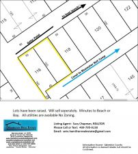 2 Lots with 100' of Canal Frontage:  Access to Blue Water Bait Camp and Galveston Bay.  Gator Point.
